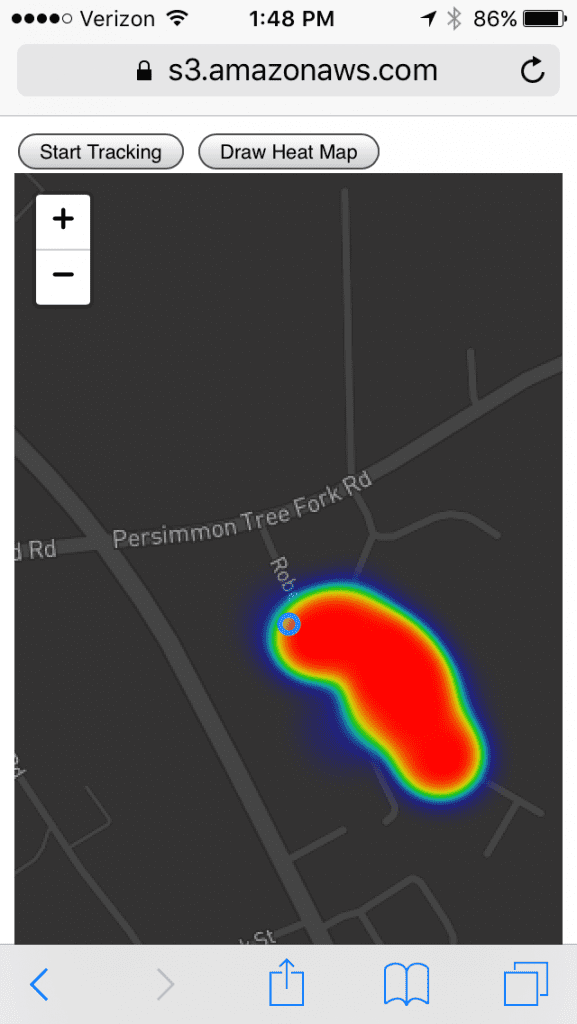 heat map of geographic data