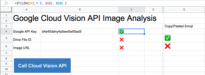 a screenshot of a google sheets interface using emoji and absolute references